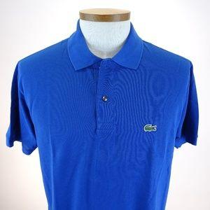 Lacoste Men's Blue Cotton Polo Shirt Size XL NWOT